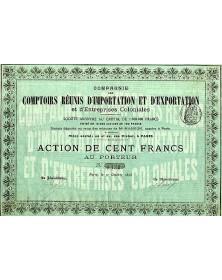 Cie des Comptoirs Réunis d'Importation & d'Exportation et d'Entreprises Coloniales