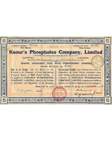 Ksour's Phosphates Co., Ltd.
