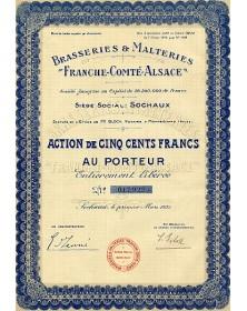 Brasseries & Malteries ''Franche- Comté-Alsace''
