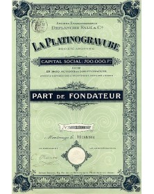 La Platinogravure. Anciens Ets Deplanche Falk & Cie
