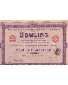 S.A. d'Exploitation du Bowling