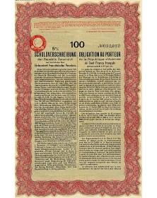Obligation 5% de la République d'Autriche 1926