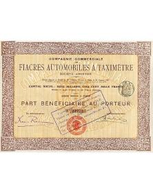 Cie Commerciale des Fiacres Automobiles à Taximètre