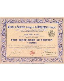 Mines de Sentein (Ariège) et de Bagergue (Espagne)