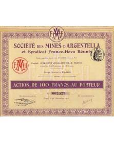 Sté des Mines d'Argentella et Syndicat Franco-Hova Réunis