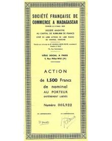 Sté Française de Commerce à Madagascar