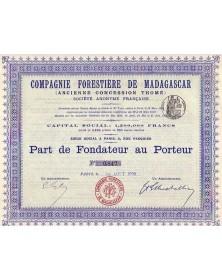 Cie Forestière de Madagascar (Ancienne Concession Thomé)