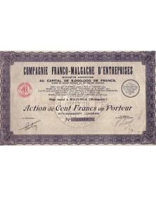 Cie Franco-Malgache d'Entreprises