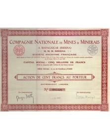 Cie Nationale de Mines & Minerais à Madagascar (Imerina)