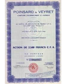 Poinsard & Veyret Comptoirs d'Extrême-Orient et d'Afrique