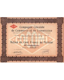Cie Coloniale de Commerce et de Commission