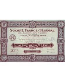 Sté France-Sénégal (Anciens Etablissements A. Compain et Th. Turbert)