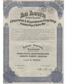 La Lowa - S.A. d'Importation & d'Exportation au Congo Belge et autres pays d'Outre-Mer
