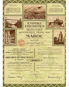Empire Chérifien - Protectorat de la République Française au Maroc. 4.5% Loan 1929