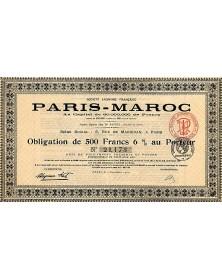 Sté Anonyme Française Paris-Maroc