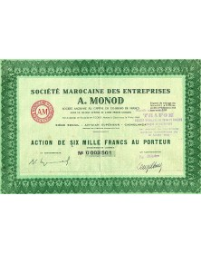 Sté Marocaine des Entreprises A. MONOD