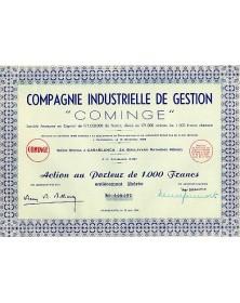 """Cie Industrielle de Gestion -Cominge-"""""""""""