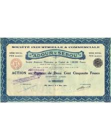 """Sté Industrielle & Commerciale -Adour-Sebou-"""""""""""