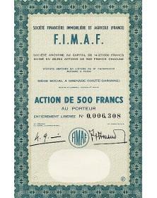 F.I.M.A.F. Sté Financière Immobilière et Agricole