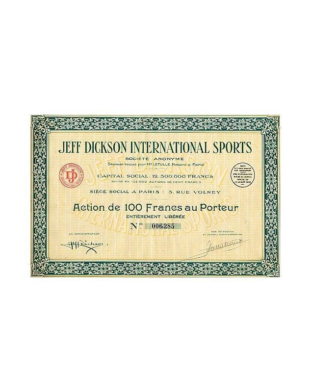 Jeff Dickson International Sports (boxe, vélo, patinage,...)