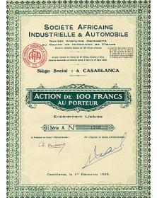 Sté Africaine Industrielle & Automobile