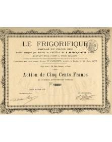 Le Frigorifique - Emploi du Froid Sec