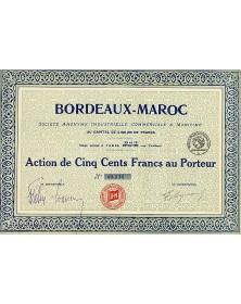 Bordeaux-Maroc - Sté Industrielle, Commerciale & Maritime