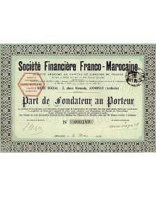 Sté Financière Franco-Marocaine