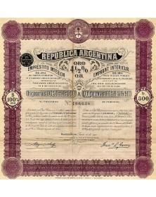 Republica Argentina - 4.5% Gold Interior Loan