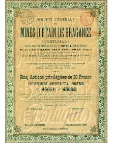 Sté Générale des Mines d'Etain de Bragance