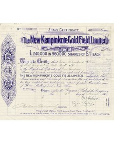 The New Kempinkote Gold Field, Ltd