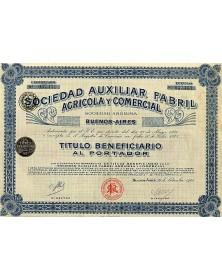 Sociedad Auxiliar Fabril Agricola Y Commercial
