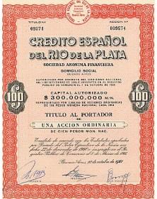 Credito Español des Rio de La Plata