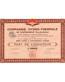 Cie Hydro-Thermale de Châteauneuf