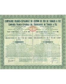 Cie Franco-Espagnole du Chemin de Fer de Tanger à Fez