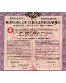 Emprunt Extérieur de la République Tchécoslovaque