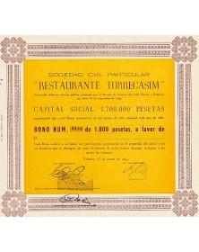 Sociedad Civil Particular ''Restaurante Torrecasim''