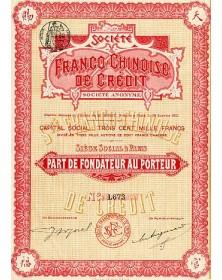 Sté Franco-Chinoise de Crédit