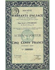 Sté des Warrants d'Alsace