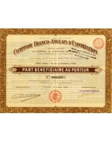 Comptoir Franco-Anglais d'Exportation