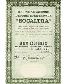 """Sté Alsacienne d'Etudes et de Travaux -SOCALTRA-"""""""""""