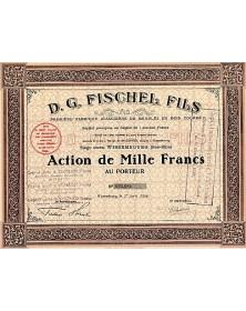 D.G. Fischel Fils. Première Fabrique Alsacienne de Meubles en Bois Courbé