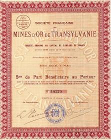 Sté Française des Mines d'Or de Transylvanie