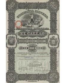 Compañia Minera Nacional Anonima El Callao. 1887 (titre de 5 actions)