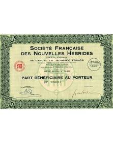Sté Française des Nouvelles - Hébrides