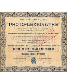 """Sté Française du -Photo-Lexigraphe-"""""""""""