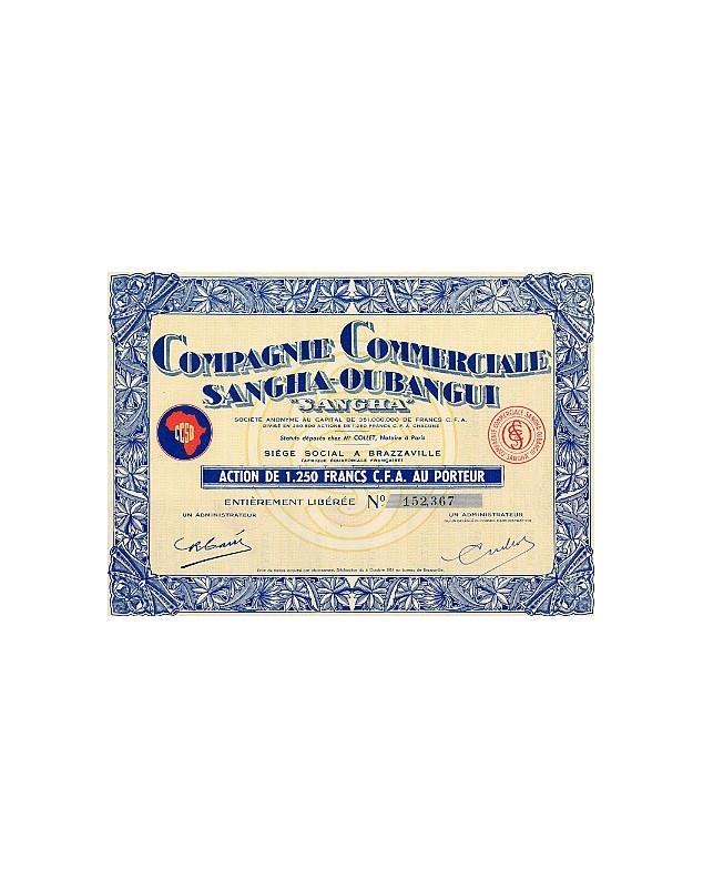 """Cie Commerciale Sangha-Oubangui """"Sangha"""" (CCSO)"""