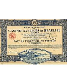 S.A. du Casino des Fleurs de Beaulieu