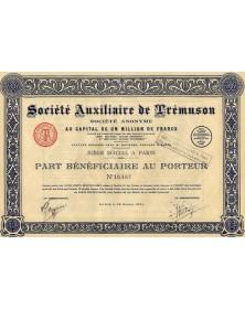 Sté Auxiliaire de Trémuson