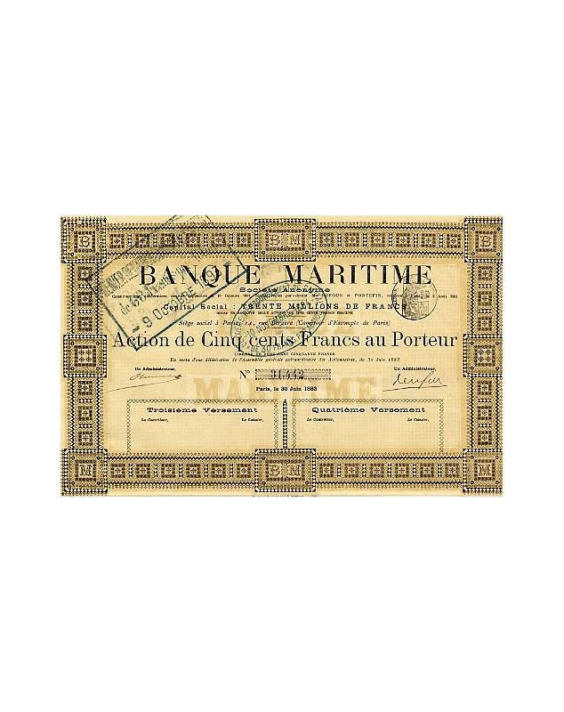 Banque Maritime (Siège au Comptoir d'Escompte de Paris)